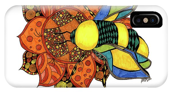 Honeybee On A Flower IPhone Case