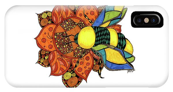 Honeybee On A Flower IPhone Case