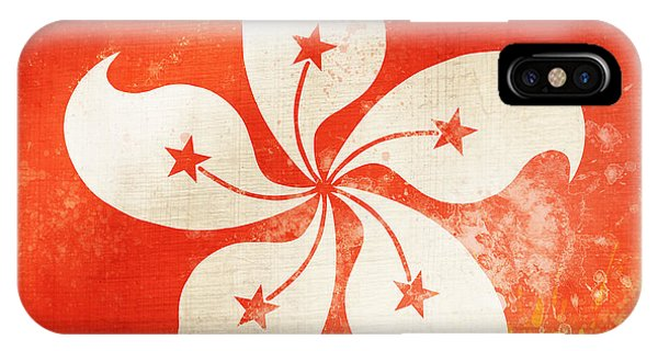 Hong Kong iPhone Case - Hong Kong China Flag by Setsiri Silapasuwanchai