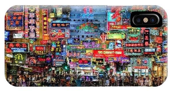 Hong Kong City Nightlife IPhone Case
