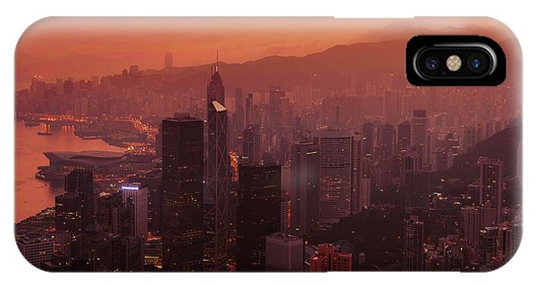 Hong Kong City View From Victoria Peak IPhone Case