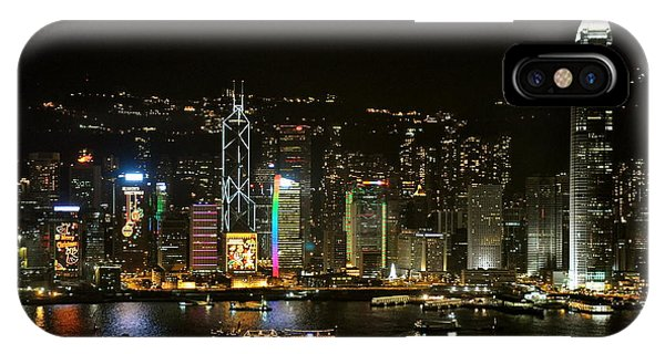Hong Kong On A December Night IPhone Case