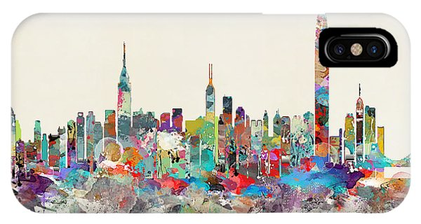 Hong Kong iPhone Case - Hong Kong Skyline by Bleu Bri