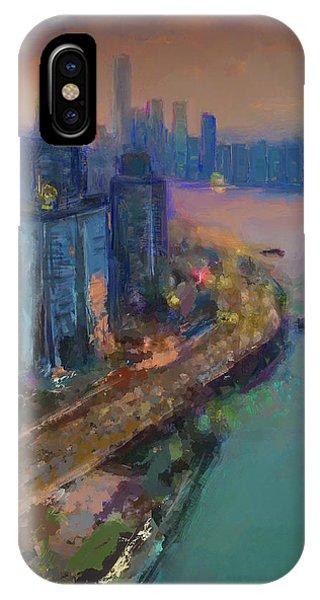 Hong Kong Skyline Painting IPhone Case