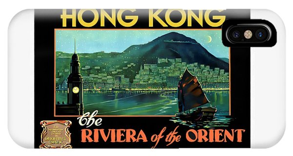 Hong Kong The Riviera Of The Orient - Restored IPhone Case