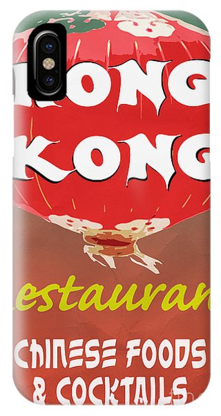 Menu iPhone Case - Hong Kong Vintage Chinese Food Sign by Edward Fielding