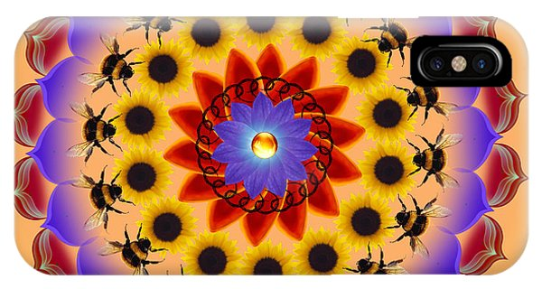 Sunflower iPhone Case - Honor The Bees by Elizabeth Alexander