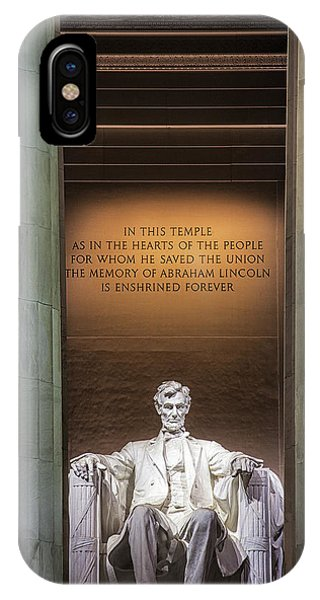 Lincoln Memorial iPhone Case - Honored For All Time by Andrew Soundarajan