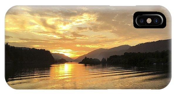 Hood River Golden Sunset IPhone Case