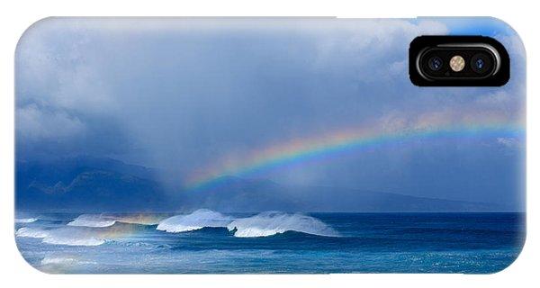 Ho'okipa Rainbow IPhone Case