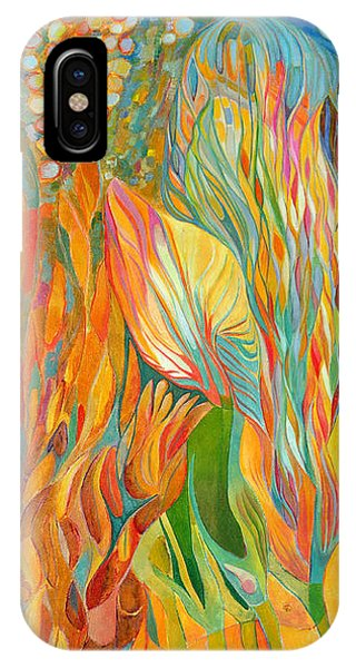 IPhone Case featuring the painting Hope Flies by Linda Cull