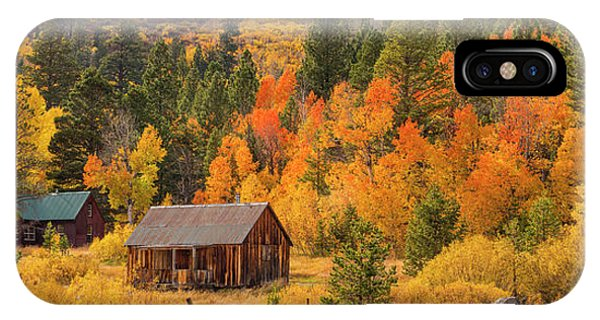 Hope Valley Fall Cabin By Brad Scott IPhone Case