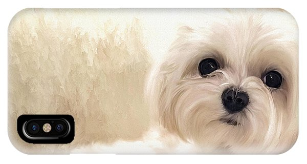Pup iPhone Case - Hoping For A Cookie by Lois Bryan