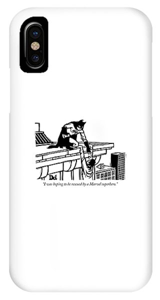 Hoping To Be Rescued By A Marvel Superhero IPhone Case