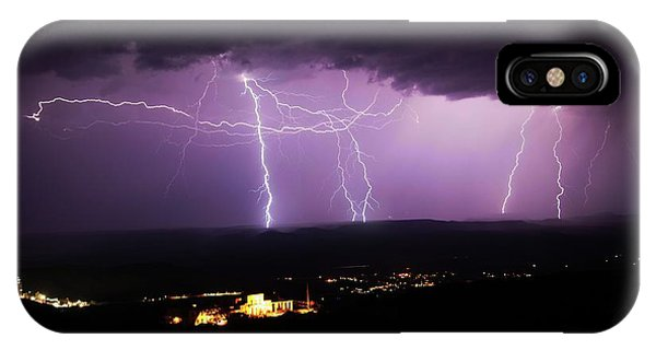 Horizontal And Vertical Lightning IPhone Case