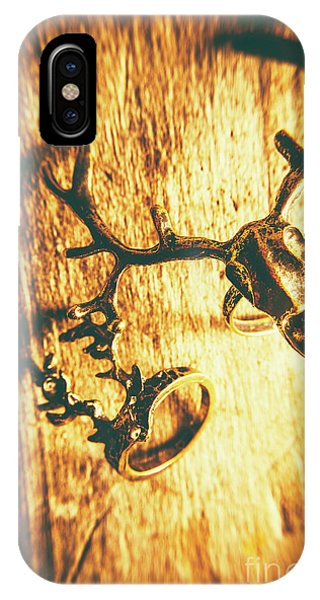 Stag iPhone Case - Horned Animal Rings by Jorgo Photography - Wall Art Gallery