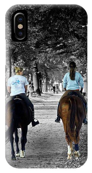 Horsback Rider In Hellbrunn IPhone Case