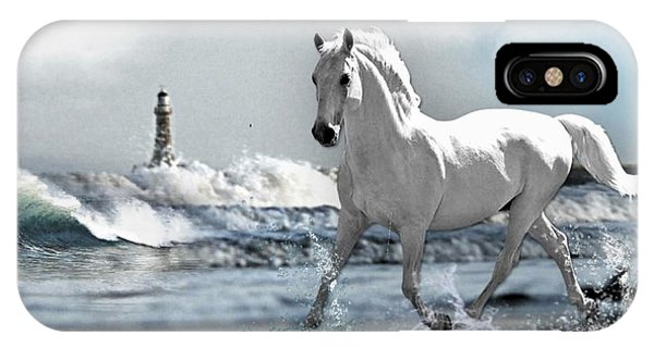 Horse At Roker Pier IPhone Case