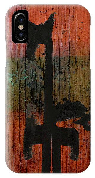 Horse And Barn Abstract  IPhone Case