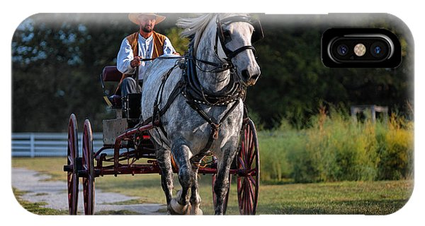 Horse And Buggy Phone Case by Lone Dakota Photography