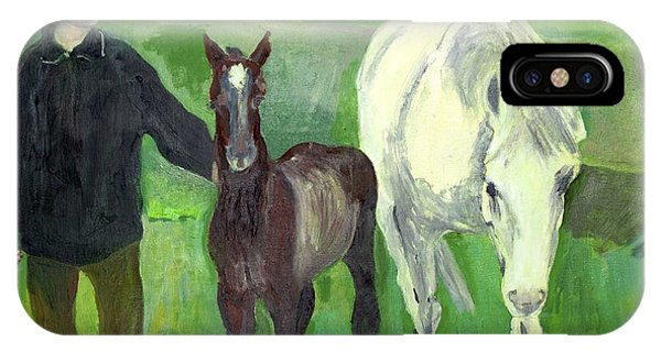 Horse And Foal IPhone Case