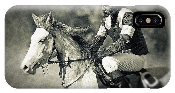 Horse And Jockey IPhone Case