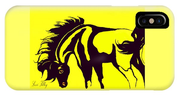 Horse-black And Yellow IPhone Case