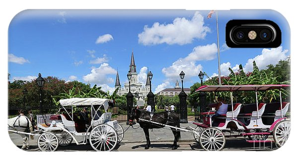 Horse Carriages IPhone Case