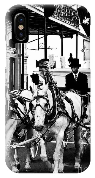 Horse Drawn Funeral Carriage IPhone Case