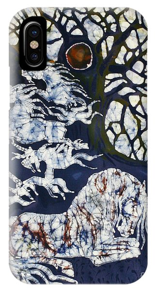 Horse Dreaming Below Trees IPhone Case
