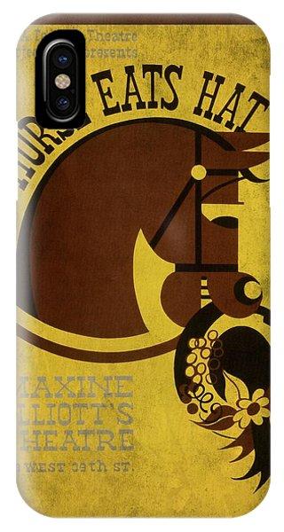 Horse Eats Hat - Maxine Elliot's Theatre - Vintage Poster Vintagelized IPhone Case