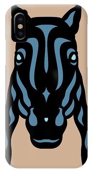 Horse Face Rick - Horse Pop Art - Hazelnut, Niagara Blue, Island Paradise Blue IPhone Case