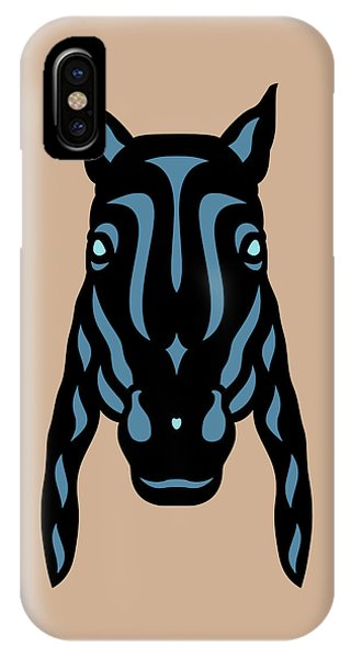 Horse Face Rick - Horse Pop Art - Hazelnut, Niagara Blue, Island Paradise Blue IPhone Case
