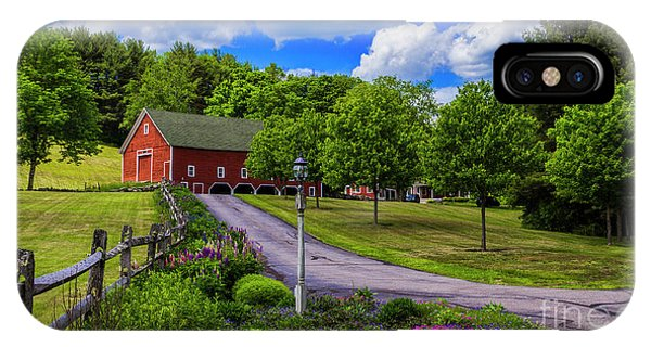 Horse Farm In New Hampshire IPhone Case