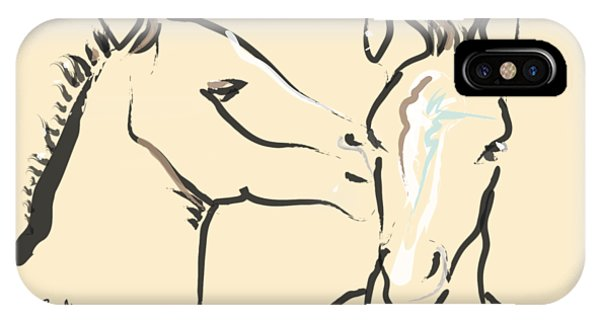 Horse-foals-together 6 IPhone Case