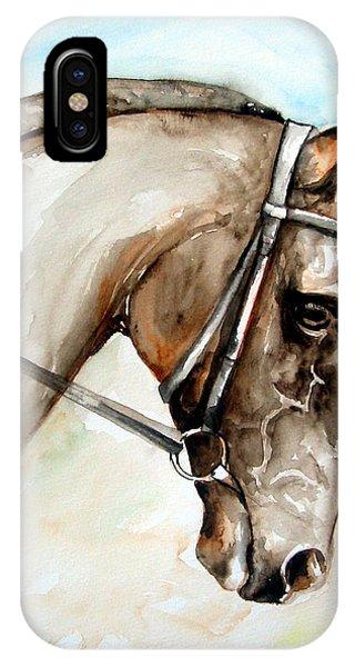 Head iPhone Case - Horse Head by Leyla Munteanu