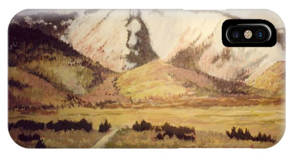 Horse Head Mountain Phone Case by JoAnne Corpany