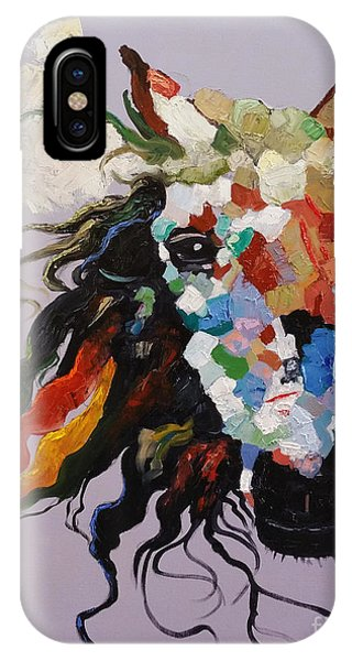 IPhone Case featuring the painting Puzzle Horse Head  by Rosario Piazza
