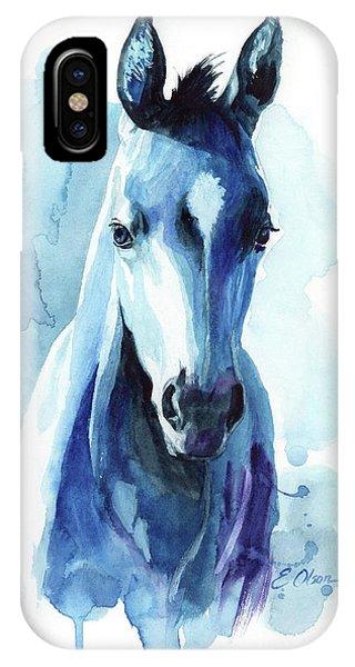 Horse In Blue IPhone Case