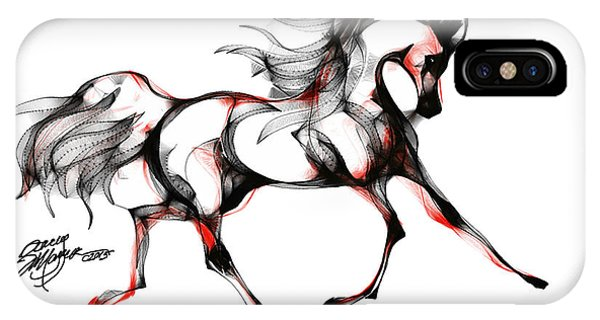Horse In Extended Trot IPhone Case