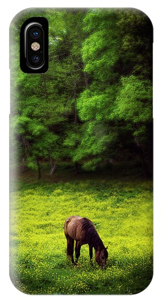 Horse In Flowers IPhone Case