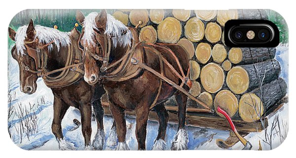 Horse Log Team IPhone Case