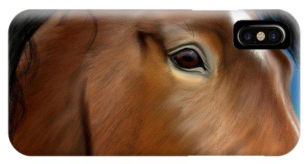 Horse Portrait Close Up IPhone Case