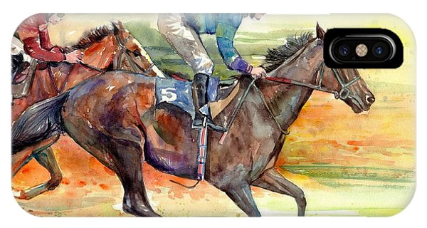 Fauvism iPhone Case - Horse Races by Suzann Sines