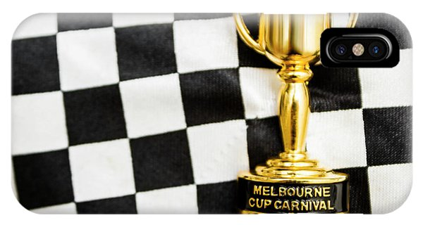 Achievement iPhone Case - Horse Races Trophy. Melbourne Cup Win by Jorgo Photography - Wall Art Gallery