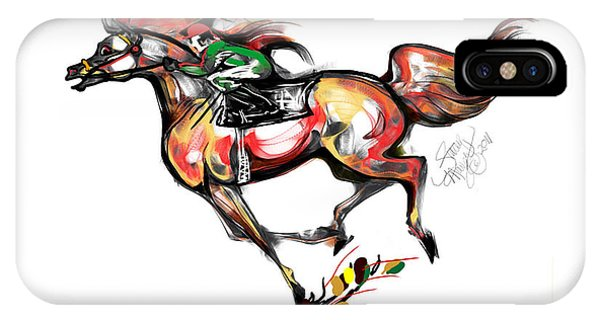 Horse Racing In Fast Colors IPhone Case