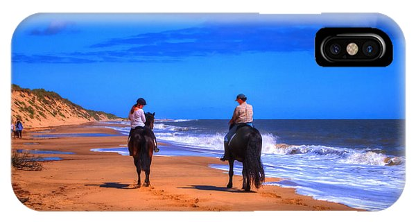 Horse Riders Out For A Walk IPhone Case