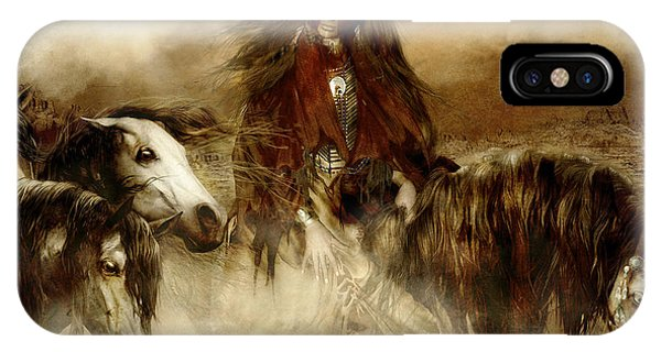 Tribal iPhone Case - Horse Spirit Guides by Shanina Conway