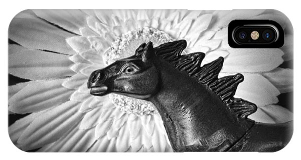 Illusion iPhone Case - Horse Startled By A Daisy by Jeff  Gettis
