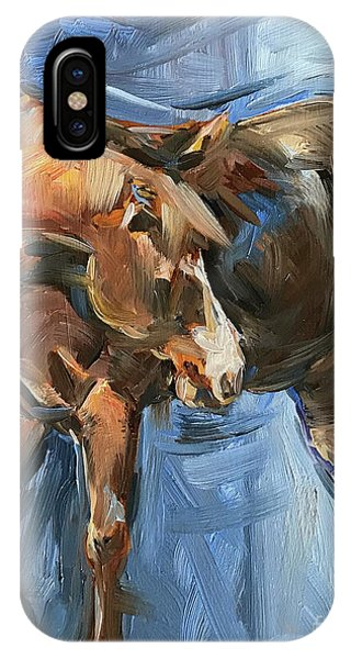 iPhone Case - Horse Study In Oil  by Maria Reichert